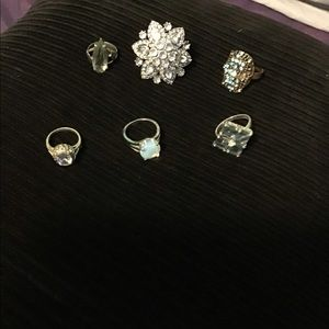 Sparkle rings lot of 5